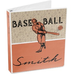 Retro Baseball 3-Ring Binder (Personalized)