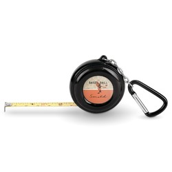 Retro Baseball Pocket Tape Measure - 6 Ft w/ Carabiner Clip (Personalized)