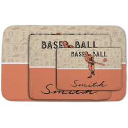 Retro Baseball Area Rug (Personalized)