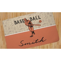 Retro Baseball Area Rug (Personalized)