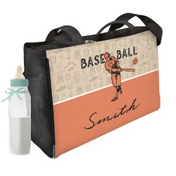 Retro Baseball Diaper Bag (Personalized)