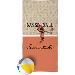 Retro Baseball Beach Towel (Personalized)