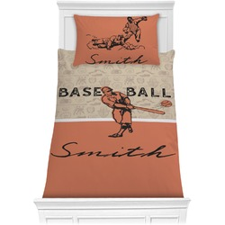Retro Baseball Comforter Set - Twin XL (Personalized)