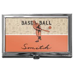 Retro Baseball Business Card Holder