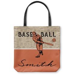 Retro Baseball Canvas Tote Bag (Personalized)