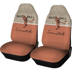 Retro Baseball Car Seat Covers (Set of Two) (Personalized)