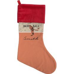 Retro Baseball Christmas Stocking (Personalized)