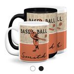 Retro Baseball Coffee Mugs (Personalized)