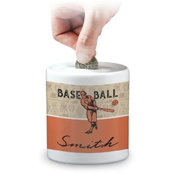 Retro Baseball Coin Bank (Personalized)