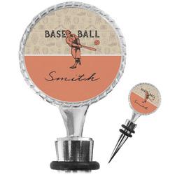 Retro Baseball Wine Bottle Stopper (Personalized)