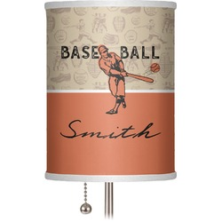 "Retro Baseball 7"" Drum Lamp Shade (Personalized)"