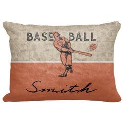 "Retro Baseball Decorative Baby Pillowcase - 16""x12"" (Personalized)"