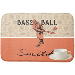 Retro Baseball Dish Drying Mat (Personalized)