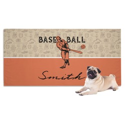 Retro Baseball Pet Towel (Personalized)