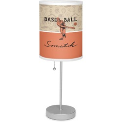 "Retro Baseball 7"" Drum Lamp with Shade (Personalized)"