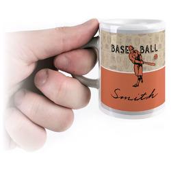 Retro Baseball Espresso Mug - 3 oz (Personalized)