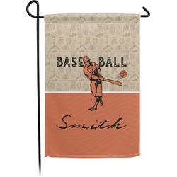 Retro Baseball Garden Flag - Single or Double Sided (Personalized)