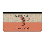 Retro Baseball Genuine Leather Checkbook Cover (Personalized)