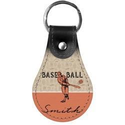 Retro Baseball Genuine Leather  Keychain (Personalized)