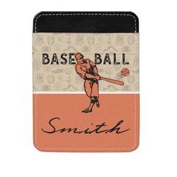 Retro Baseball Genuine Leather Money Clip (Personalized)