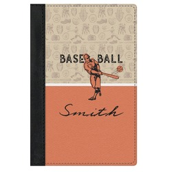 Retro Baseball Genuine Leather Passport Cover (Personalized)