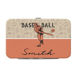Retro Baseball Genuine Leather Small Framed Wallet (Personalized)