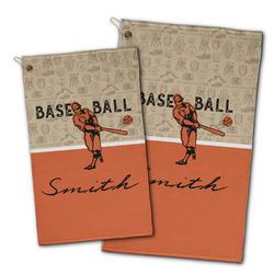 Retro Baseball Golf Towel - Full Print w/ Name or Text