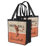 Retro Baseball Grocery Bag (Personalized)