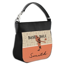Retro Baseball Hobo Purse w/ Genuine Leather Trim (Personalized)