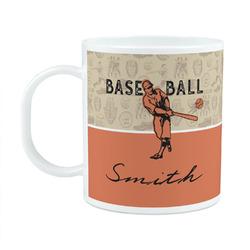 Retro Baseball Plastic Kids Mug (Personalized)