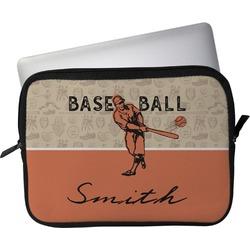 """Retro Baseball Laptop Sleeve / Case - 12"""" (Personalized)"""