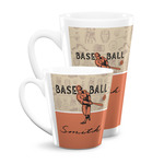 Retro Baseball Latte Mug (Personalized)