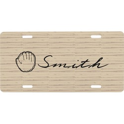 Retro Baseball Front License Plate (Personalized)
