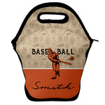 Retro Baseball Lunch Bag w/ Name or Text