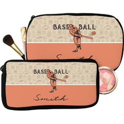 Retro Baseball Makeup / Cosmetic Bag (Personalized)