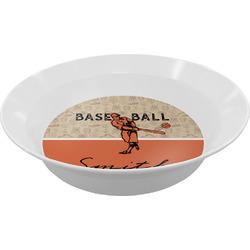 Retro Baseball Melamine Bowls (Personalized)