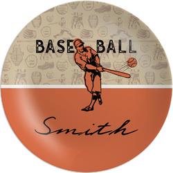 Retro Baseball Melamine Plate (Personalized)