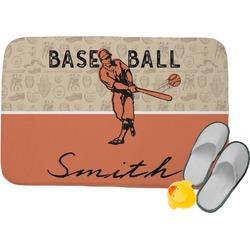 Retro Baseball Memory Foam Bath Mat (Personalized)