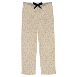 Retro Baseball Mens Pajama Pants (Personalized)