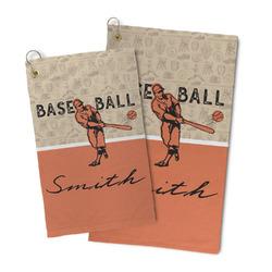 Retro Baseball Microfiber Golf Towel (Personalized)