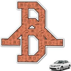 Retro Baseball Monogram Car Decal (Personalized)