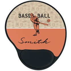 Retro Baseball Mouse Pad with Wrist Support