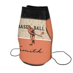 Retro Baseball Neoprene Drawstring Backpack (Personalized)