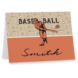 Retro Baseball Notecards (Personalized)