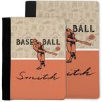 Retro Baseball Notebook Padfolio w/ Name or Text