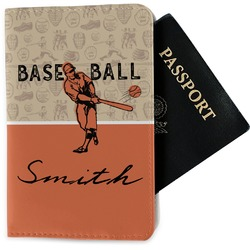 Retro Baseball Passport Holder - Fabric (Personalized)