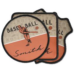 Retro Baseball Iron on Patches (Personalized)