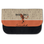 Retro Baseball Canvas Pencil Case w/ Name or Text