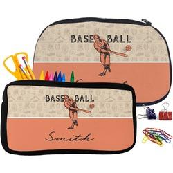 Retro Baseball Pencil / School Supplies Bag (Personalized)
