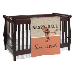 Retro Baseball Baby Blanket (Personalized)